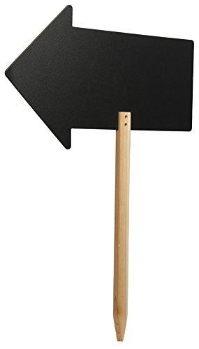 SECURIT Hinweisschild Silhouette Pfeil, Holz, Schwarz, 670(H) x 500(W) x 20(D) mm