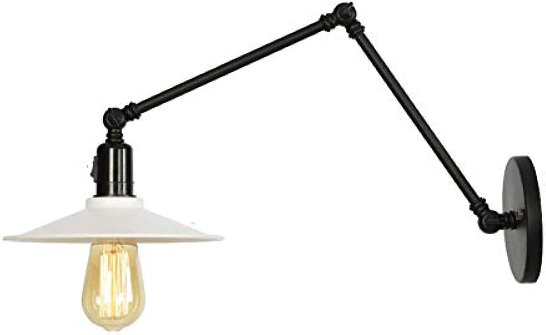 WVUSGDTT Wandleuchte, einfache Anbringung am Bett, Wandleuchte, Messing, mit Schalter, dekorative Lampe Metall innen, Zubehr für Beleuchtung Flur Wohnzimmer Flur 22  4CM wei