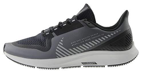 Nike Damen W Air Zoom Pegasus 36 Shield Leichtathletikschuhe, Mehrfarbig (Black/Black/Metallic Silver 001), 40 EU