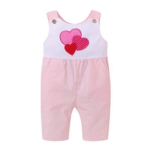 Beudylihy Traje para niños recién nacidos, bebés, niñas, bodys, pantalones, pelele divertido, mono para primavera y verano. A rosa. 0-3 Meses