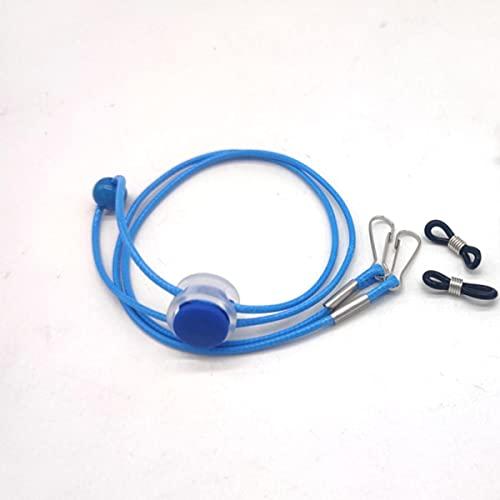 Ajustable antideslizante silicona colgante cuerda cordón gafas cadena sin rastro oído colgando cuerda titular ganchos-China, 04 azul