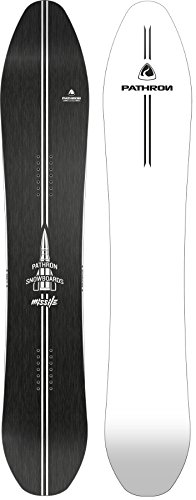 Pathron Snowboard Missile Carbon Rocker Powderboard (White Base, 171cm)