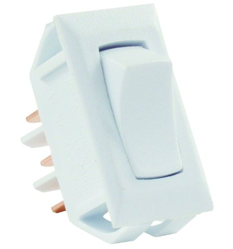 JR Products 12635 White SPDT On/On Switch