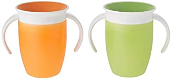 Munchkin Miracle 360 Trainer Cup Green/Orange 7 Ounce 2 Count