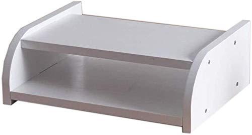 Cajas de almacenamiento enrutador WIFI, estante flotante de montaje en pared, caja de tv de televisor, bastidor de almacenamiento de madera, rack de almacenamiento de madera, capa única / capa doble (