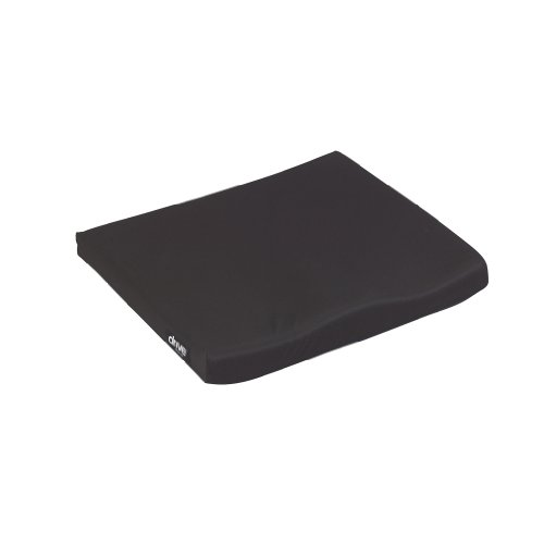 """Drive Medical Molded General Use 1 3/4"""" Wheelchair Seat Cushion, Black, 18"""" x 16"""" x 1. 75"""""""