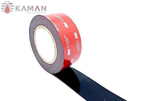 Original 3M VHB 5952 Hochleistungsklebeband schwarz, für schwierig zu klebende Oberflächen im Innen- und Außenbereich, breite wählbar [ Breite ] 3meter Rolle (25 mm)