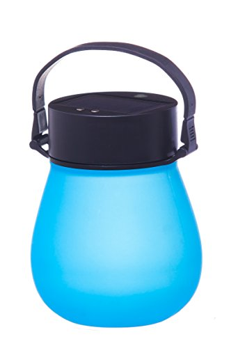 Firefly Blue Bell-Shaped Indestructible Silicone Solar Powered LED Emergency Power Light with Water-Tight Twist Top