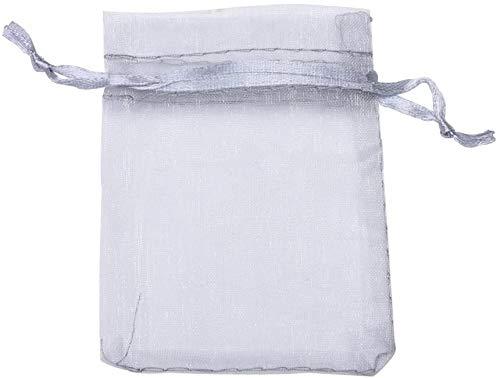Hbno Geschenktüten Hochzeitsbevorzugungstaschen Schmuckbeutel, Silber