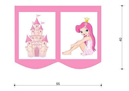 XXL Discount Ensemble de sacs pour lit d'enfant - Sac de rangement pour lit mezzanine - 55 x 40 cm - 100 % coton - Accessoire de lit - Sac en tissu (rose/blanc, princesse)