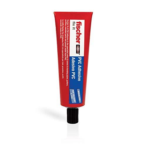 Fischer PVC-125, Adesivo istantaneo liquido per Saldatura a freddo di tubazioni, cavi e altri materiali in PVC, 125 ml, 46926