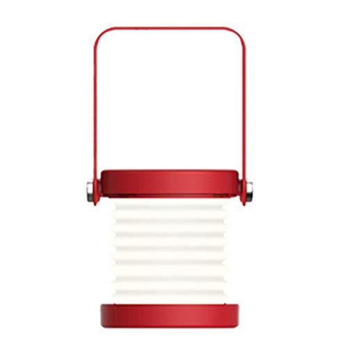 Luz de noche plegable con luz de linterna LED con control táctil con lámpara de mesa recargable de 3 niveles de brillo para dormitorio (rojo;) BCVBFGCXVB