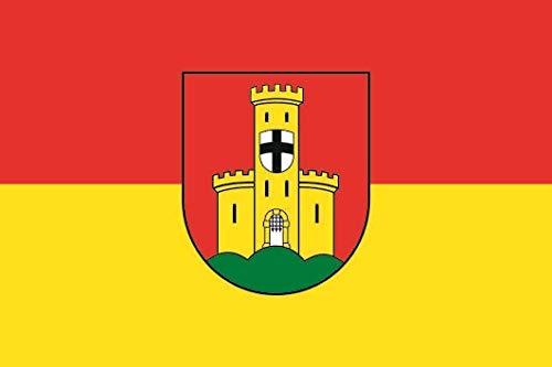 U24 Aufkleber Bonn-Bad Godesberg Flagge Fahne 8 x 5 cm Autoaufkleber Sticker