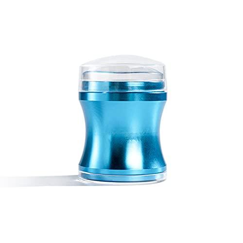 Silikon Nagel Stempel Transparent French Nail Art Stamper NagelStamping nagelstempel mit Schaber Stamping Nail Art DIY Nageldekoration Nageldesign (Blau box)