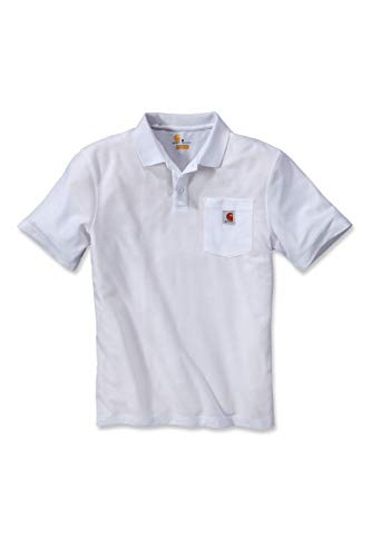 Carhartt K570 Work Pocket Polo XL White
