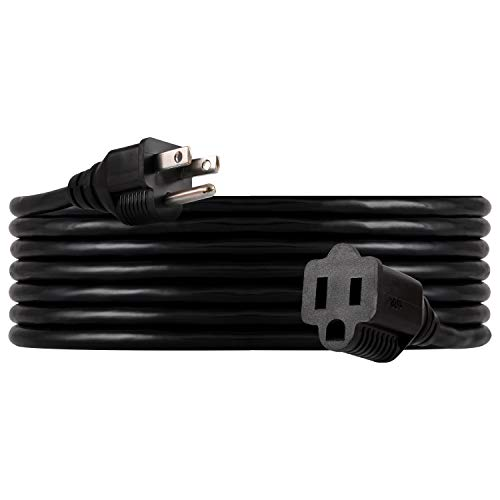 UltraPro, Black, GE 15 ft Extension, Double Insulated Cord, Indoor/Outdoor, UL Listed, 36824