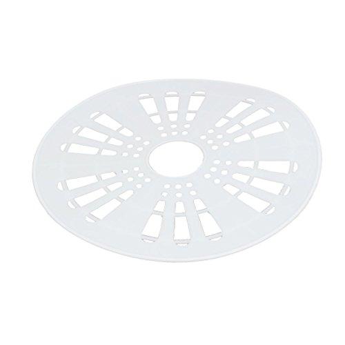 uxcell プラスチック半自動洗濯機スピンキャップカバーホワイト 23.5cm直径