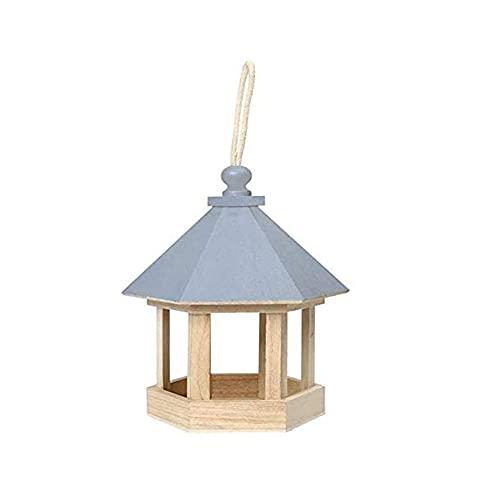 Estación de Alimentación de Pájaros de Madera, Casa de Pájaros Colgante, Estación de Alimentación de Pájaros Silvestres Colgante, Comederos de Mesa de Pájaros Huecos para Parque de Jardín