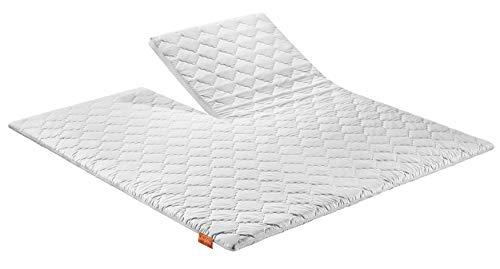 sleepling Split Topper Premium Kaltschaum Matratzenauflage auch für Boxspringbetten 180 x 200 cm, weiß
