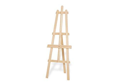 Pinolino Kinderstaffelei Vincent, aus massivem Holz, werkzeugfrei stufenlos höhenverstellbar, zusammenklappbar, für Kinder ab 3 J., unbehandelt