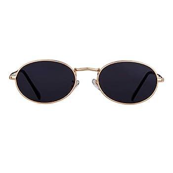Vintage Sunglasses Retro Oval Designer Sunglasses For Women Men  Gold Frame Grey Lens 42