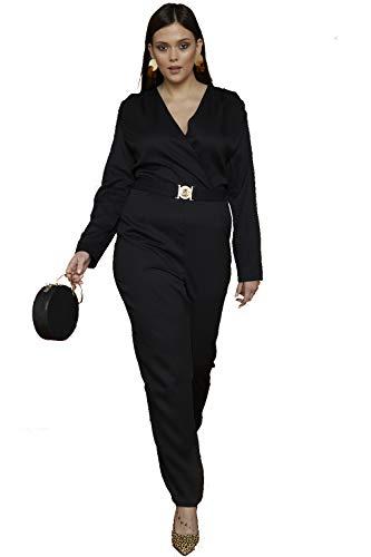 UNIQUE21 zwart op maat Jumpsuit met gouden gesp UAC50095