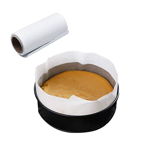Cake Pan Liner, Baking Nonstick Baking Parchment Paper, Precut Side Liner Roll for Cheesecake Pan Springform Pan Muffin Liners (4in x 49ft)