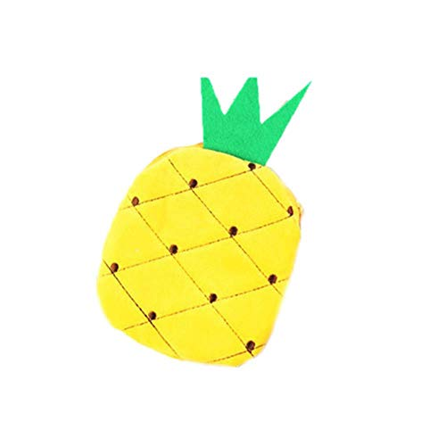 Huien Fruits Lemon Watermelon Portable Plush Pocket Wallet Plush Toy Llavero, Gris