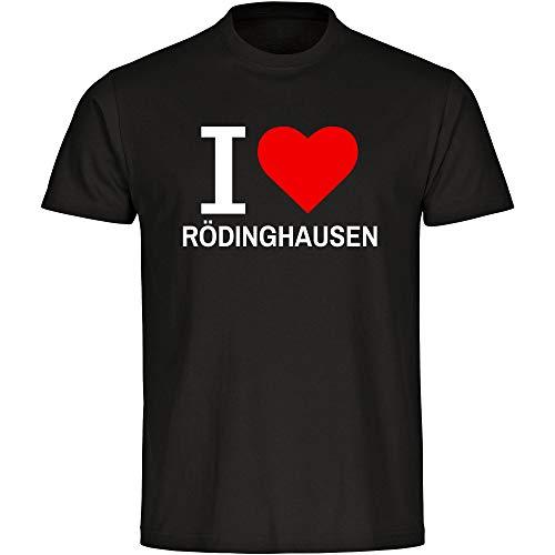 Herren T-Shirt Classic I Love Rödinghausen - schwarz - Größe S bis 5XL, Größe:S