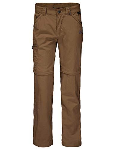 Jack Wolfskin Boys Safari Zip Off Kid's Nylon Hiking Pants for Boys and Girls,Bark Brown ,140 (9-10 Years Old)
