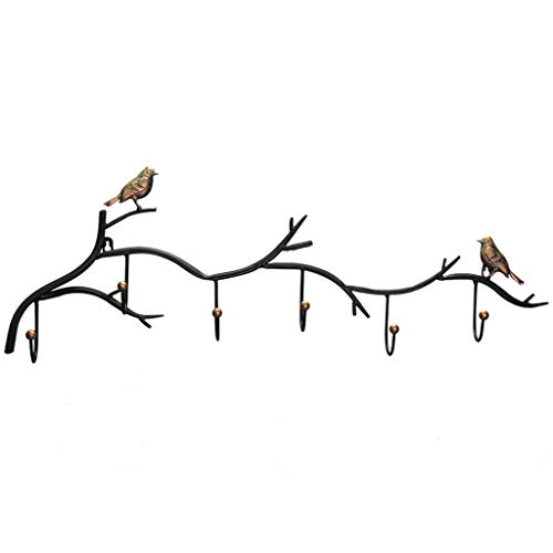 Xiaoli Perchero de Pared Abrigo montado en la Pared Entrada de la Llave de la Capa de Gancho de Gancho de perforación Creativa en la Paleta sin Paredes de Pared Perchero de Pared Estante (Color : B)