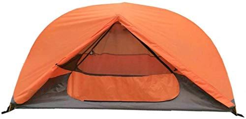 DIMPLEYA Außen Orange Farbe Ultralight Backpacking Eine Camping-Zelt, Layer doppel 1 Man Zelt 2019