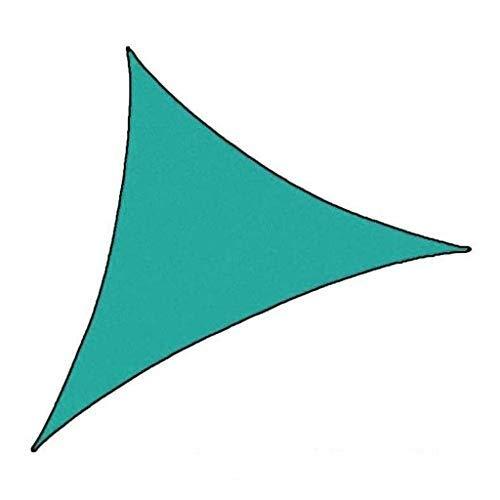 Hfior Voile d'ombrage triangulaire imperméable anti-UV pour extérieur terrasse jardin 3 tailles Multicolore