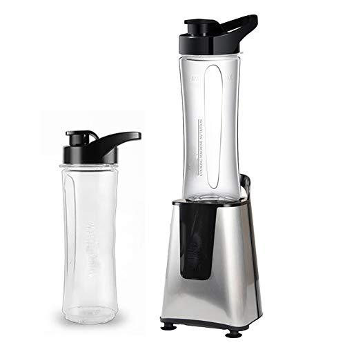 DFHFGH Food Smoothie Mixer mit Glas, für Milchshake, Eisbrecher, Smoothie, Obst oder Krug Mixer Silbergrau