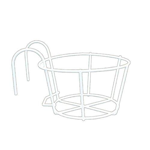 Kücheks Balcon Mural Pot Rack Balustrade Balustrade Ronde Fleur Stand, Blanc Grande Taille, Taille: 20 * 11 cm, matériel: métal