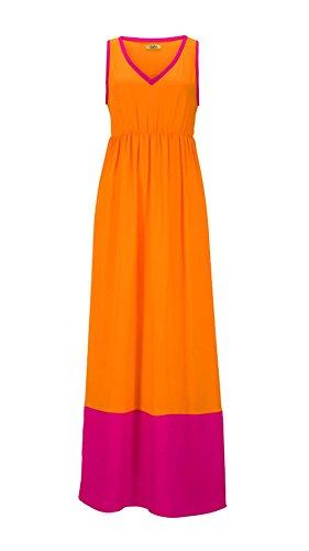BUFFALO Damen-Kleid Maxikleid Mehrfarbig Größe 36