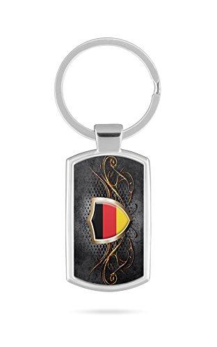 Schlüsselanhänger mit Gravur Wunschtext Name Deutschland Fahne 1