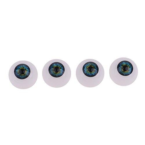 20 mm Azul Oscuro NON MagiDeal 4 Piezas Ojos Acr/ílicos de Seguridad para Baby Doll DIY Accesorios de Mu/ñeca de Bricolaje