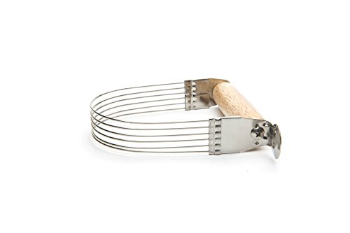 "Fox Run Wire Pastry Blender, 5"", Steel and Wood"
