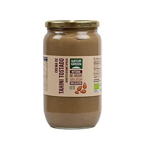 NaturGreen - Tahin Pasta de Sésamo Tostado Bio, Tahini Puré Ecológico, Elaborado con Semillas de Sésamo, 800 G, 2 Unidades