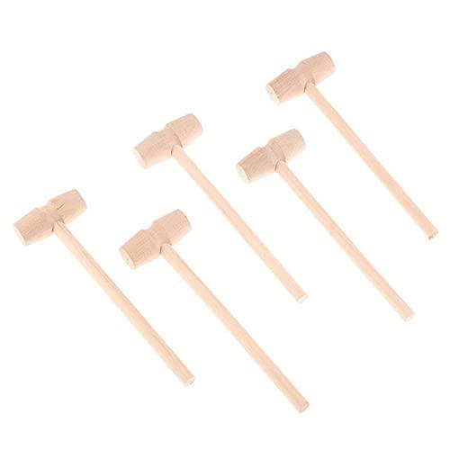 5/10/15/20/30 piezas martillo de madera 140x42x15mm cangrejo langosta mariscos galletas-20 piezas