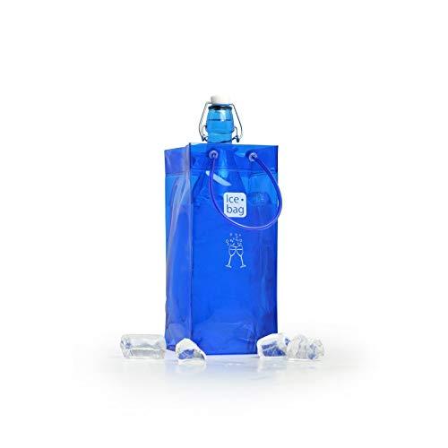 Ice. bag 1 Bouteille Cave à vin Lot de 6, PVC, Français Bleu, 12 x 12 x 26 cm