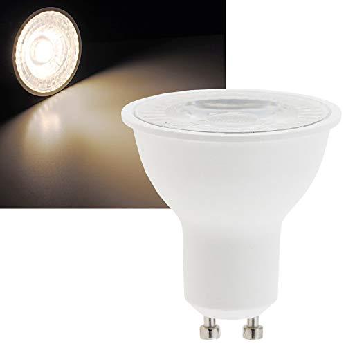 Lampadina LED GU10, 6 Watt, 10 pezzi, 450 lumen, luce bianca calda, 230 V, 38°, ricambio per 50 W