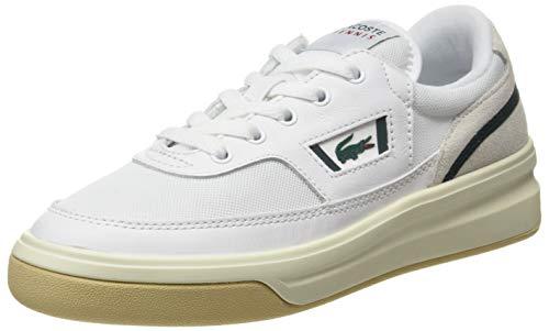 Lacoste G80 0120 1 SFA, Zapatillas Mujer, Blanc Wht Dk Grn, 38 EU