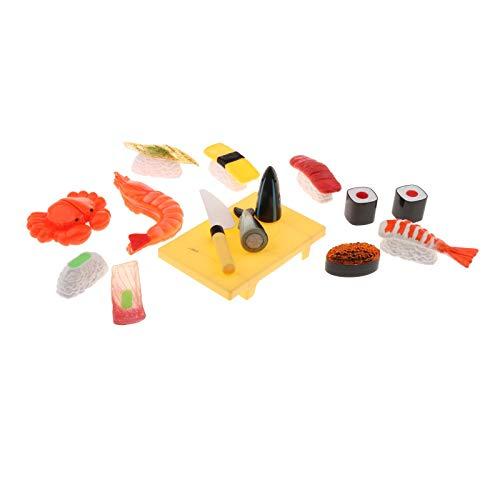 yotijay Para nios de simulacin de alimentos japoneses Pretend Juguetes para hacer sushi atn Sashimi comida Simulacin juguete del