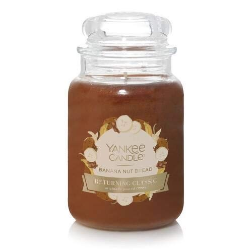 Banana Nut Bread Large Jar Candle,Fresh Scent