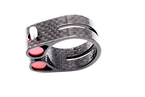 Carbon Sattelklemme Farradsattelklemme für 31,6 mm 27,2 mm Sattelstütze Saddle clamp (27,2 mm, Glossy)