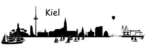 Wandtattoo Skyline Kiel