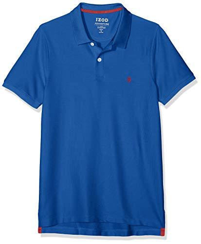 Izod Herren Performance Pique Polo Poloshirt, Blau (True Blue 426), Large (Herstellergröße: LG)