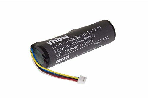 vhbw Batterie Li-ION 2200mAh (3.7V) pour Collier GPS Navi pour Chien de repérage Navi Garmin TT15 GPS Dog Tracking Collar.